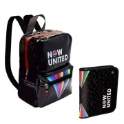 Kit Mochila e Caderno Argolado Now United - Dac