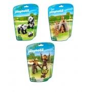 Kit Playmobil Animais do Mundo 03 pacotes - 11 Peças - Sunny