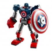 Lego Marvel Vingadores Capitão América Armadura Robô 76168 121Pcs