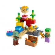 Lego Minecraft O Recife de Coral 21164 92 Peças