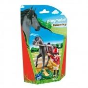 Playmobil Soft Bags Country Cavalo Preto 9261 - Sunny