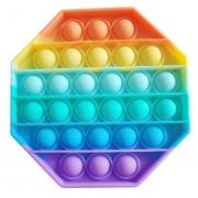 Pop It Arco-Íris Brinquedo Pop It Fidget Toys Anti Stress Poc Pop Brinquedo Sensorial