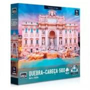 Quebra-Cabeça Bella Italia Fontana di Trevi 500 Peças - Game Office