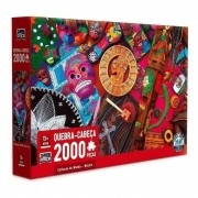 Quebra-Cabeça Culturas do Mundo México 2000 Peças - Game Office