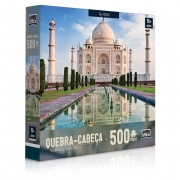 Quebra-Cabeça Maravilhas do Mundo Moderno Taj Mahal 500 Peças - Game Office