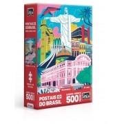 Quebra-Cabeça Nano Monumentos Postais do Brasil 500 Peças - Game Office