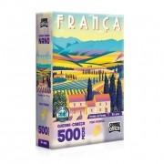 Quebra-Cabeça Nano Postais da Europa França 500 Peças - Game Office