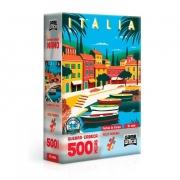 Quebra-Cabeça Nano Postais da Europa Itália 500 Peças - Game Office