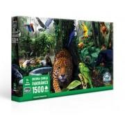 Quebra-Cabeça Panorâmico Floresta Amazônica 1500 Peças - Game Office