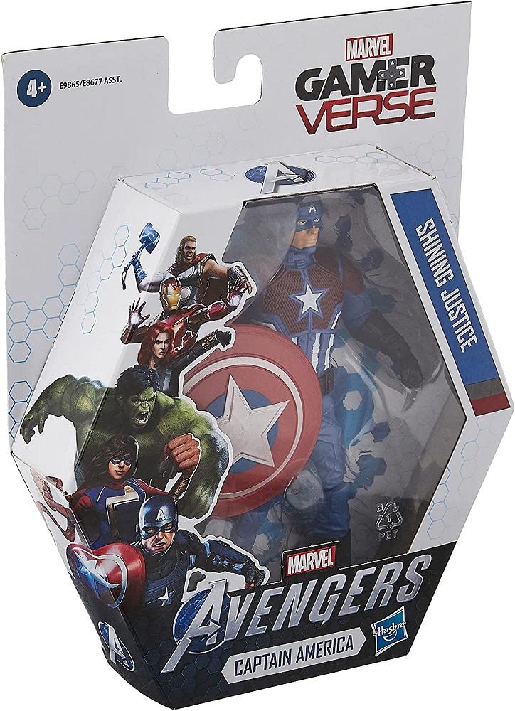 Action Figure Marvel Vingadores Capitão América Shining Justice Hasbro Gamer Verse E9865