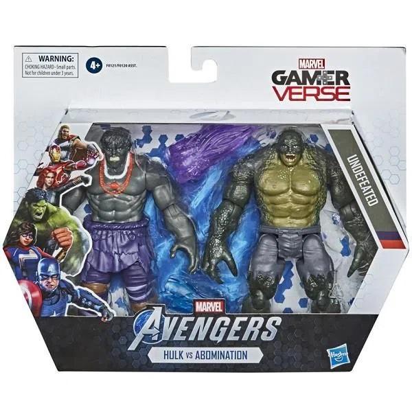 Action Figures Hulk e Abominável Marvel Vingadores Gamer Verse Hasbro