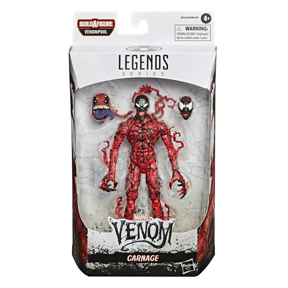 Action Figures Legends Series Venom Marvel Carnage - Hasbro