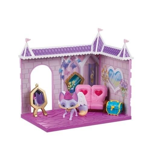 Kit Animal Jam Cenário Castelo da Princesa Den e Miniaturas