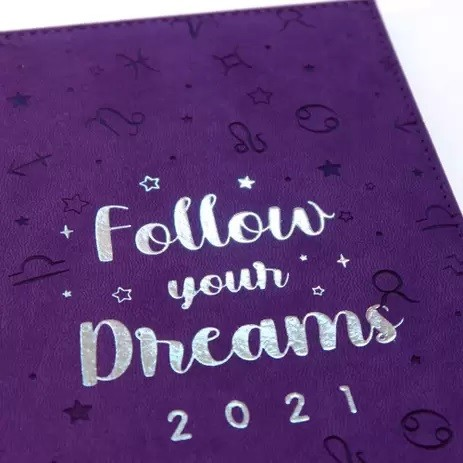 Agenda Executiva Datada 2021 336 Páginas Follow Your Dreams Signos - Dac 134mm X 190mm