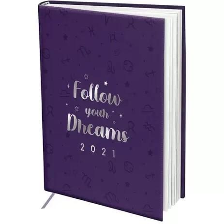 Agenda Mini Executiva Datada 2021 336 Páginas Follow Your Dreams Signos - Dac 102mm X 139mm