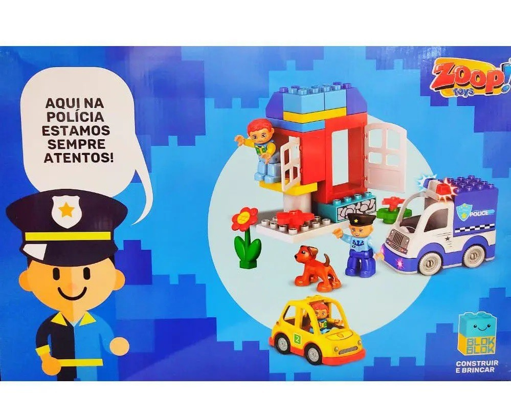 Blocos de Montar Blok Blok Polícia 49 Peças - Zoop Toys