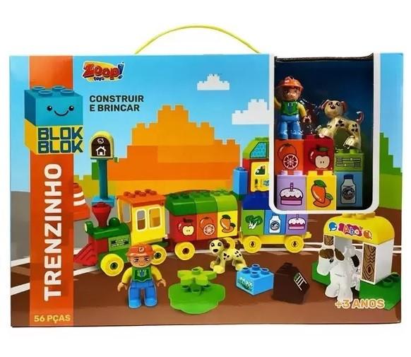 Blocos de Montar Blok Blok Trenzinho 56 Peças - Zoop Toys
