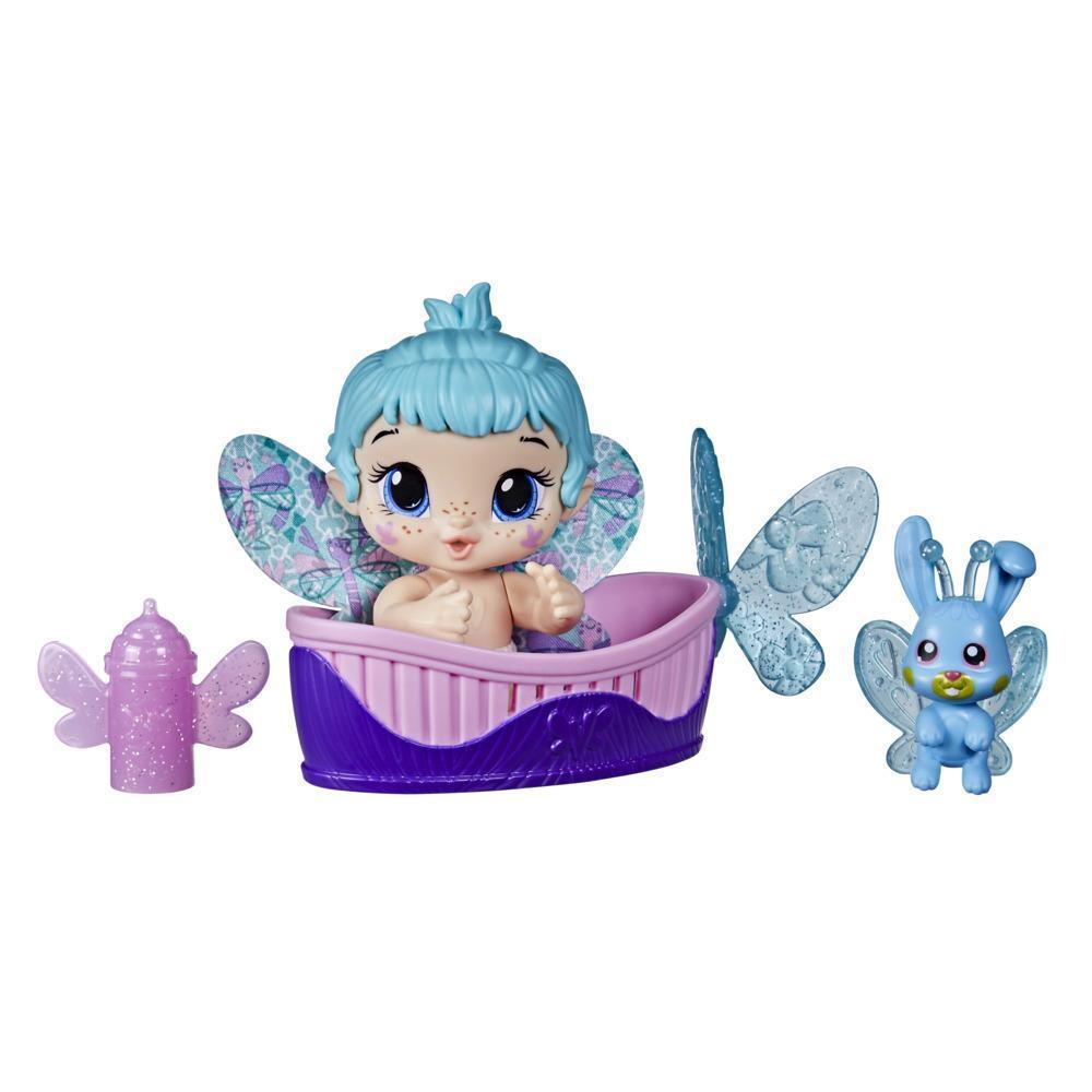 Boneca Baby Alive Glo Pixies Minis Aqua Flutter Hasbro F2599