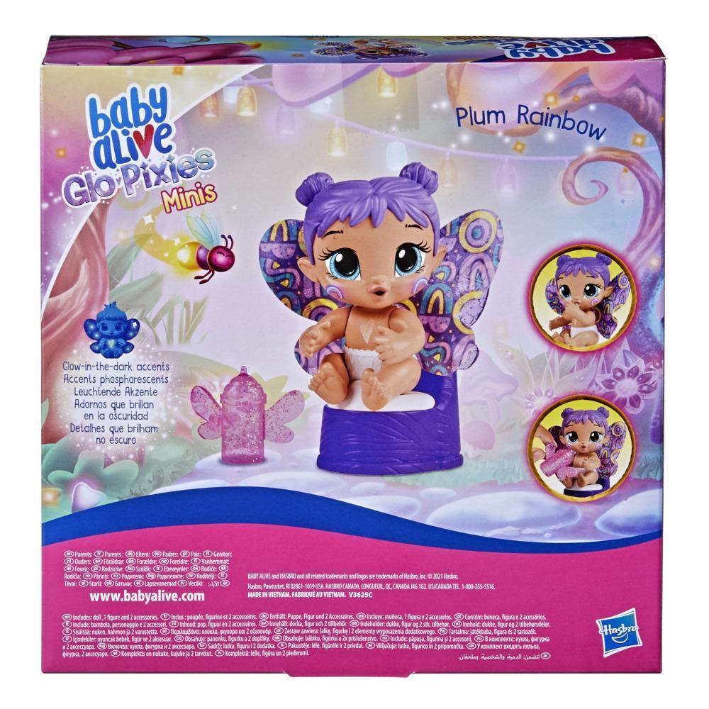 Boneca Baby Alive Glo Pixies Minis Plum Rainbow Hasbro F2596