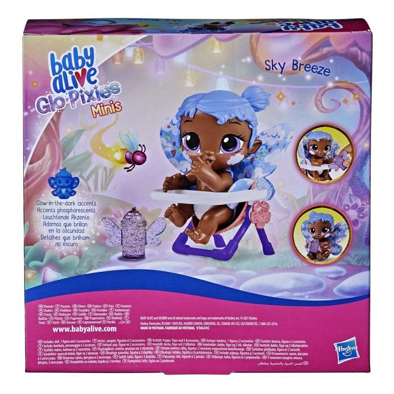 Boneca Baby Alive Glo Pixies Minis Sky Breeze Hasbro F2602