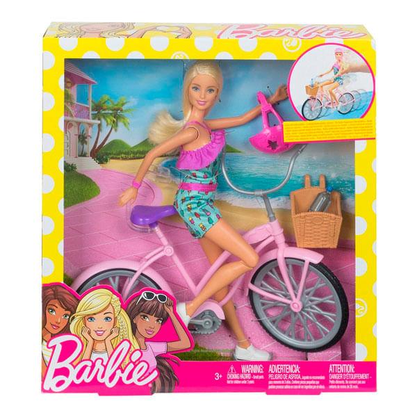 Boneca Barbie com Bicicleta FTV96 Mattel