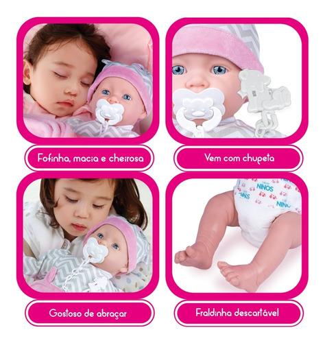 Boneca Dolls With Love Pesadinho Reborn Cotiplás 2407