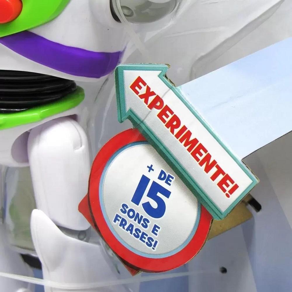 Boneco Articulado Buzz Lightyear Com Som Toy Story Mattel
