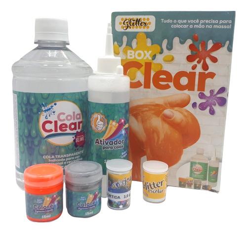 Box Clear Slime Glitter