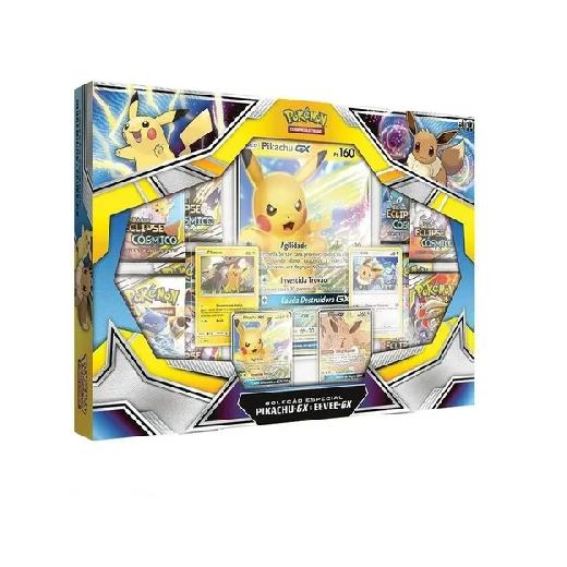Box Pokémon Pikachu-gx e Eeve-gx - Copag
