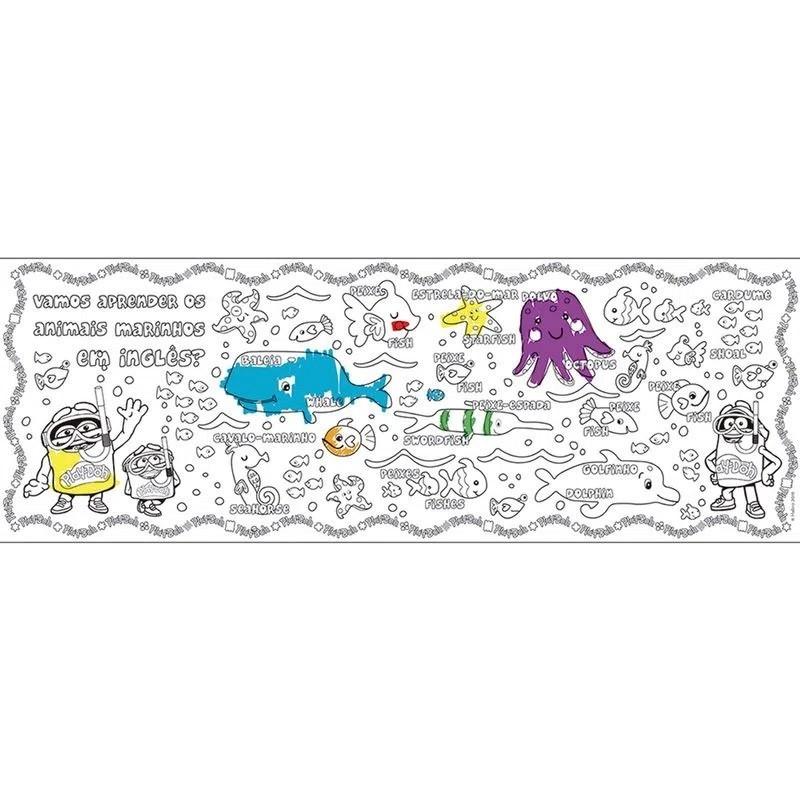 Brinquedo Educativo Tapete Bilíngue para Colorir - Play-Doh - Fun