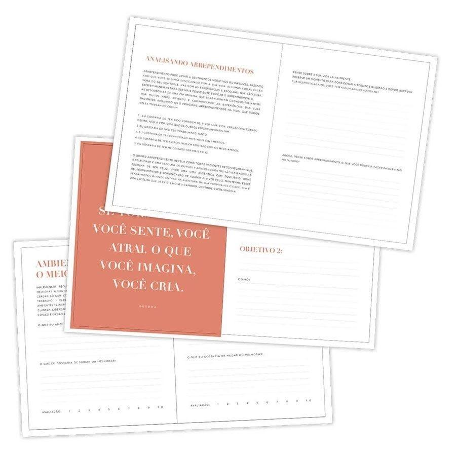 Caderno para Anotações e Planejamento Mensal 160 Páginas Felicidade - Dac 165mm X 203mm