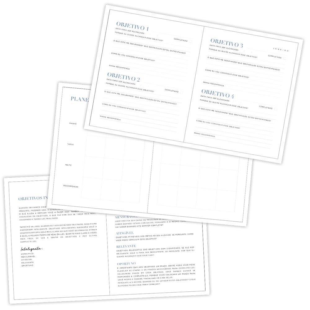 Caderno para Anotações e Planejamento Mensal 160 Páginas Objetivos - Dac 165mm X 203mm