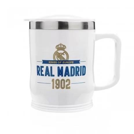 Caneca 400ml Para Viagem Real Madrid - Produto Oficial