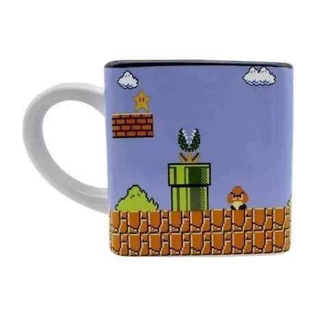 Caneca Cubo 300ml Super Mario Bros. - Zona Criativa