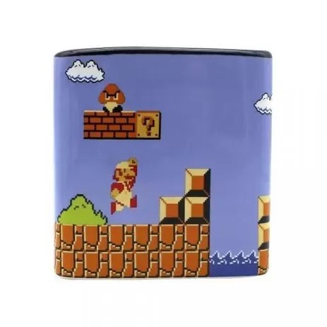 Caneca Cubo 300ml Super Mario Bros. - Zona Criativa