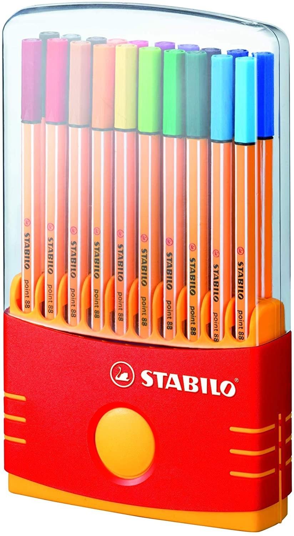 Caneta Stabilo Point 88 Sortida 0.4mm Estojo com 20 unidades sortidas - Stabilo
