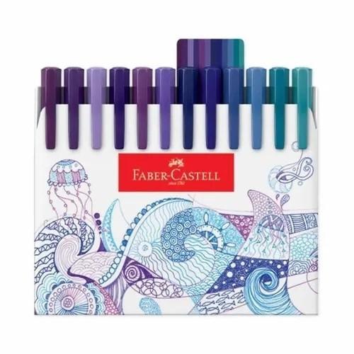 Canetas Ponta Fina 0.4mm 48 Cores - Faber-Castell