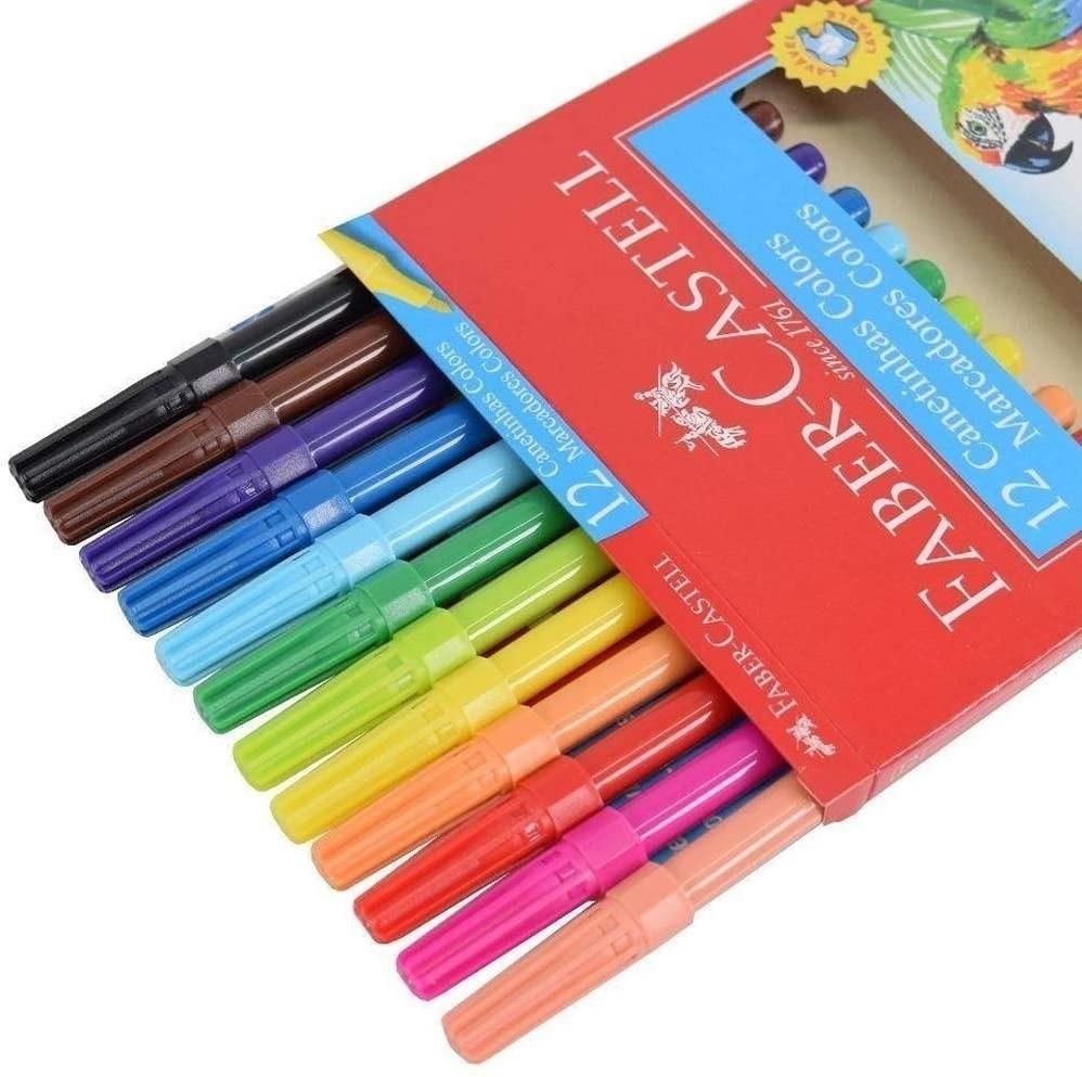 Canetinhas Coloridas 12 Cores - Faber-Castell