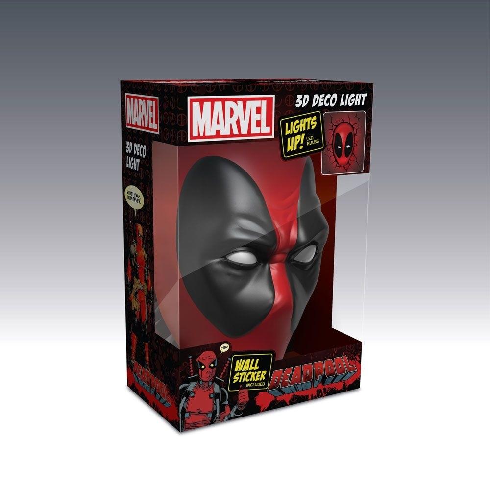 Decoração Luminária Marvel Deadpool - 3D Light Fx