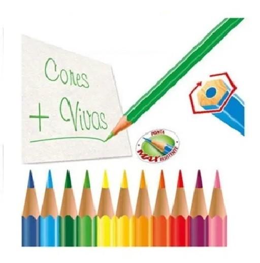Eco Lápis de Cor 24 Cores e 01 Apontador - Faber-Castell