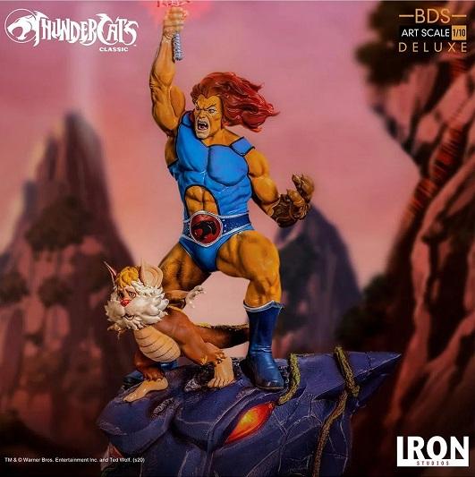 Estátua Lion-O e Snarf Bds 1/10 - Thundercats Iron Studios