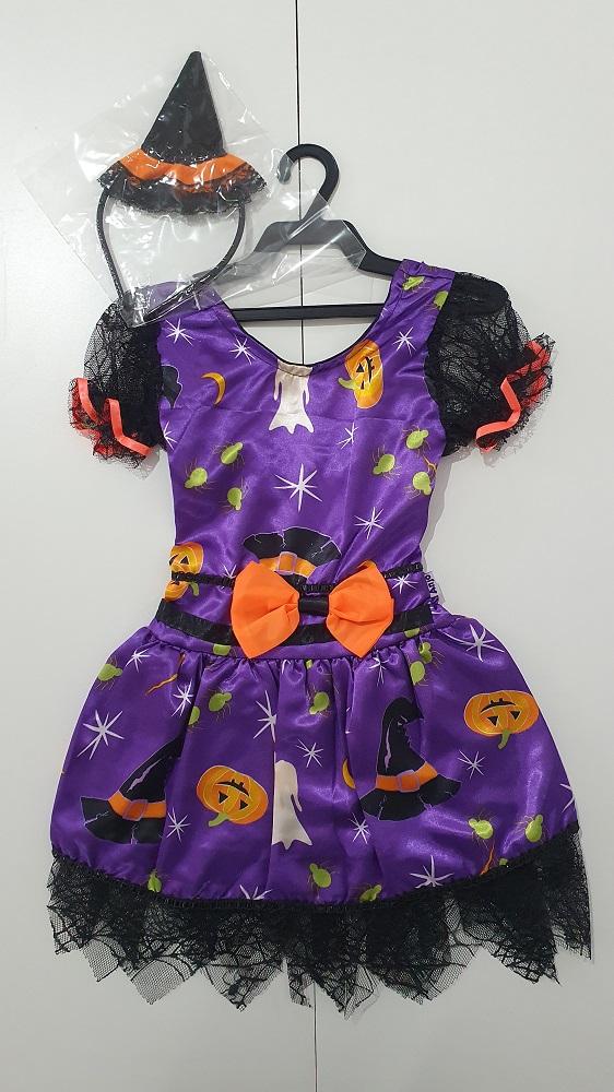 Fantasia Halloween Infantil Bruxinha Keka Anjo Fantasias
