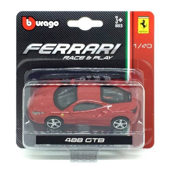 Ferrari 488 GTB  Bburago Race & Play escala 1/43