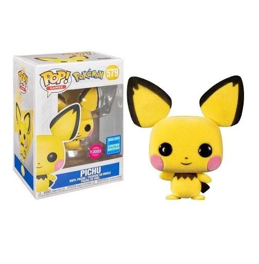 Funko Pop Flocado Pokémon Pichu Edição Limitada (579)