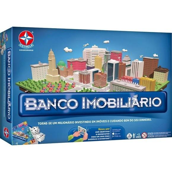 Jogo de Tabuleiro Banco Imobiliário - Estrela