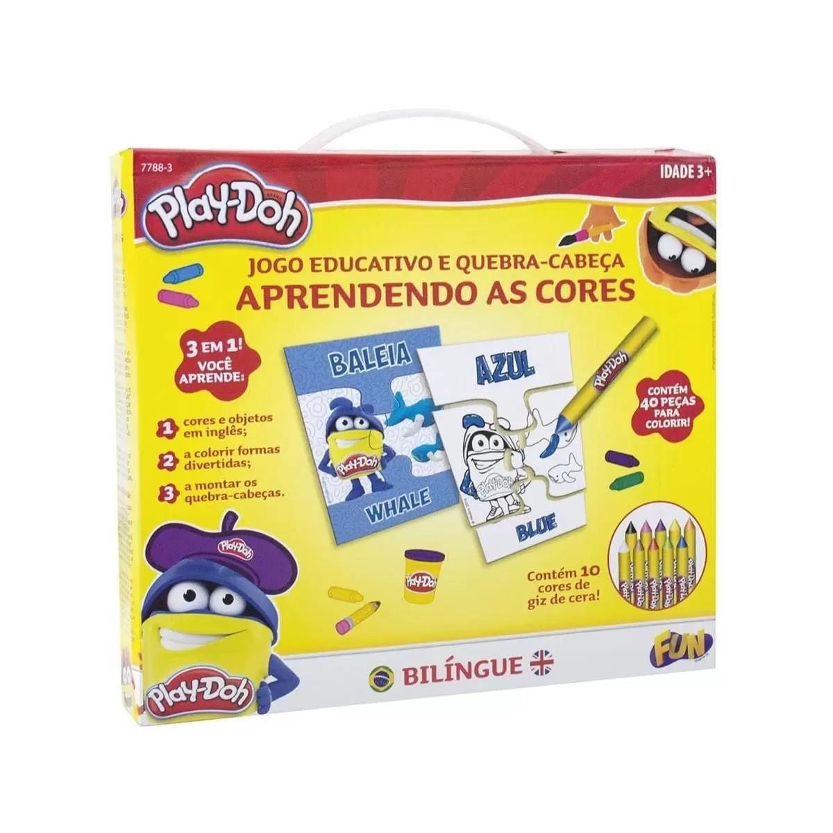 Jogo Educativo Bilíngue e Quebra-Cabeça Aprendendo as Cores - Play-Doh