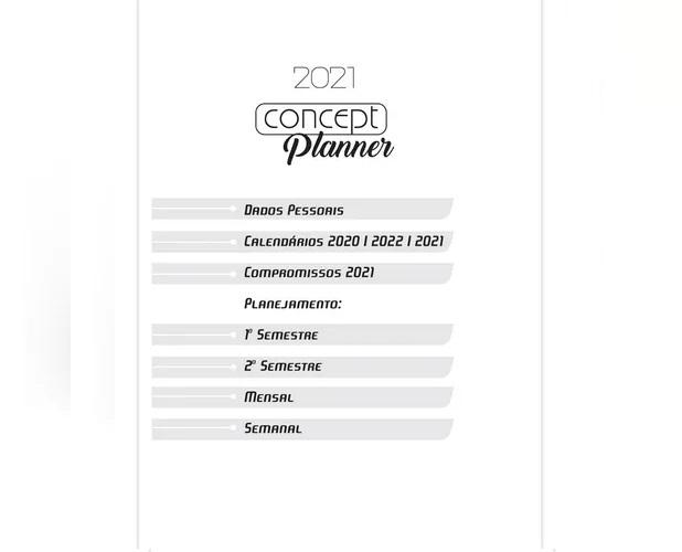 Kit com 5 Concept Planner 72 Folhas 140x205mm - São Domingos