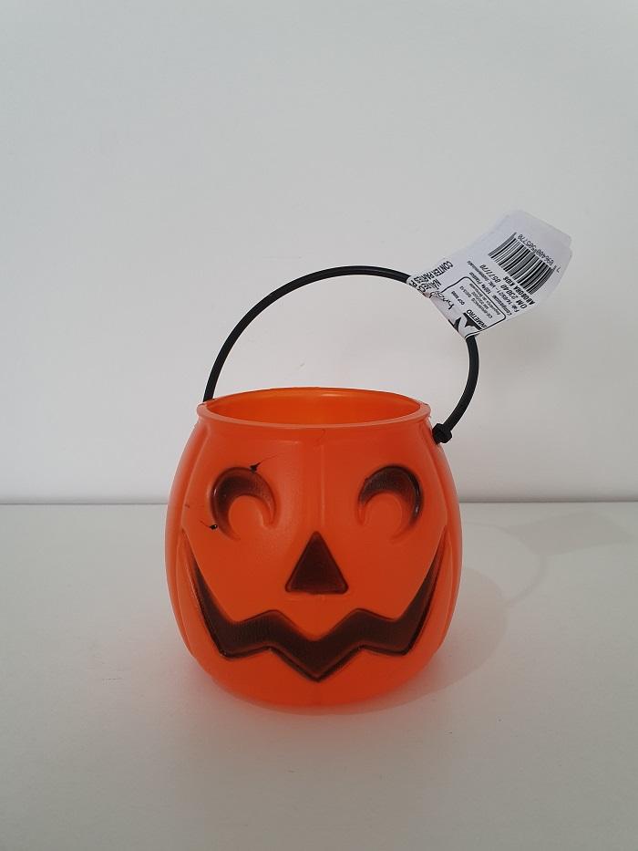 Kit Halloween com 05 Mini Baldes Cabeça de Abóbora