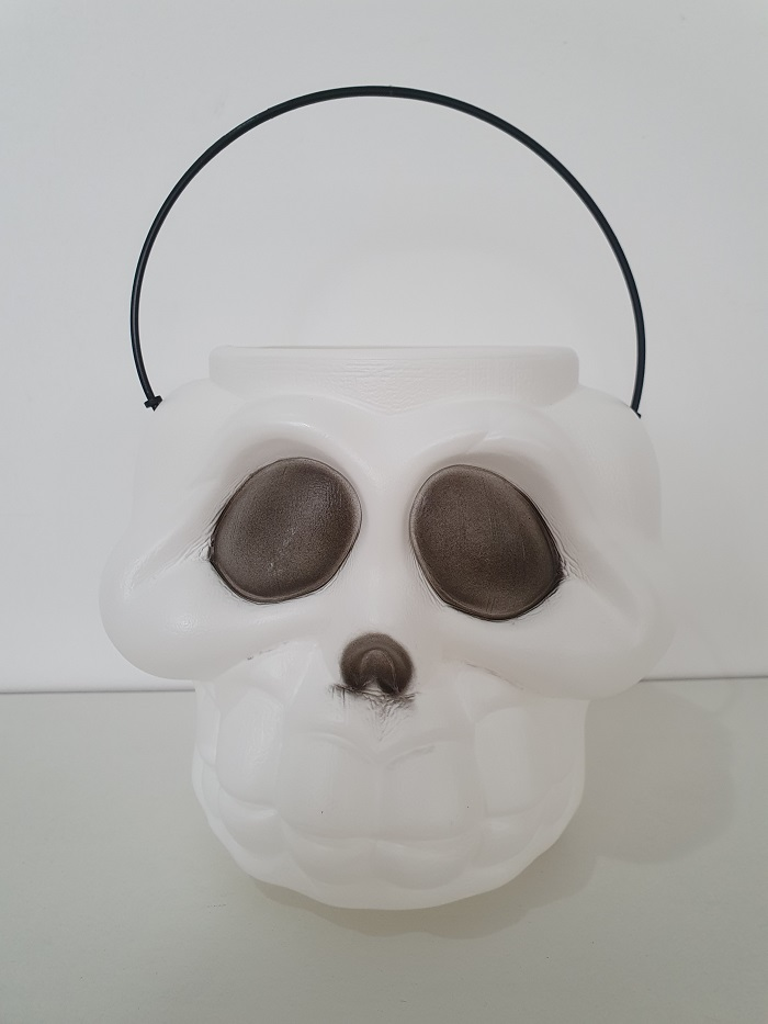 Kit Halloween com 06 Baldes Cabeça de Esqueleto