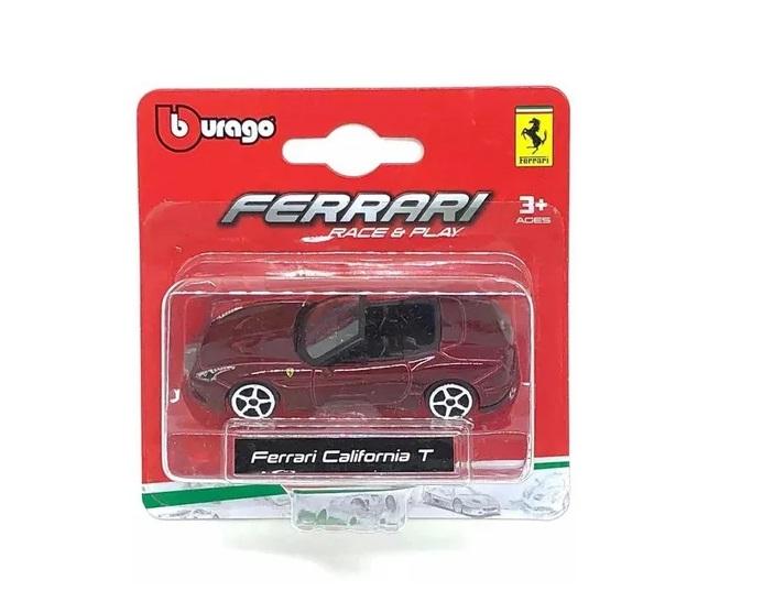 Kit Miniaturas Ferrari F 12tdf California T F 50 Burago Race & Play escala 1/64